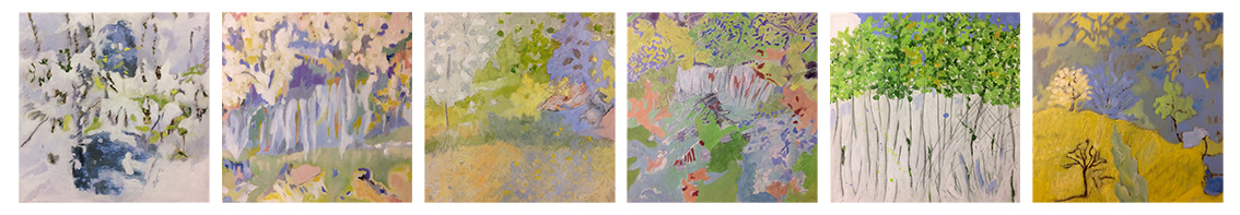 six saisons 6 toiles 40x40 cm